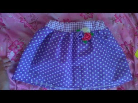 видео: Шью сама. Юбочка из лоскута 50см для девочки. Декорируем юбку