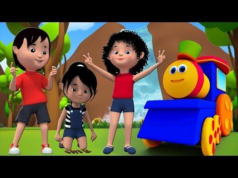 Bob der Zug   Über den Berg   Deutsches Kinderlied   Bob Train   Nursery Rhymes   Over The Mountain