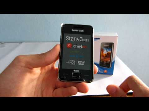 Samsung Star 3 Duos S5222 mobiltelefon kicsomagoló videó - mobilxTV