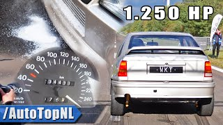 1250HP OPEL Kadett GSi *ICE COOLED* 0-316KMH ACCELERATION by AutoTopNL