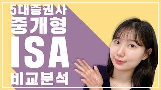 [주식기초] 비과세 만능통장 중개형 ISA 증권사 5곳…