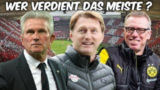 Wie viel verdienen die Bundesliga-Trainer ?
