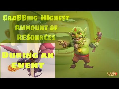 Grabbing Highest Amount of Resources by Three Attacks during an Event : Clash of Clans Gaming