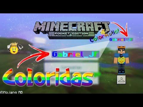 ⭐️Como Colocar Nome 🌈Colorido Minecraft PE