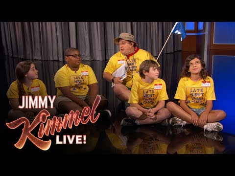 Late-Night Summer Camp Interrupts Jimmy Kimmel's Monologue