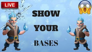 SHOW YOUR BASES ! / ICE WIZARD ! / CLASH OF CLANS ! / CLAN GAME !/ CLASH ON