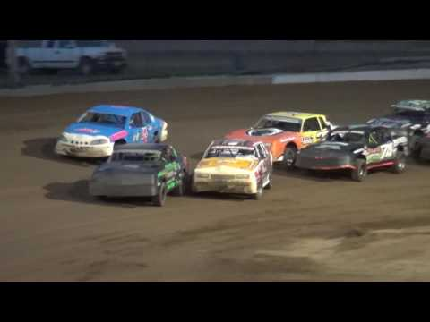 IMCA Stock Car feature Independence Motor Speedway 7/16/16