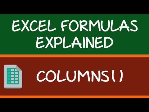 COLUMNS Formula in Excel