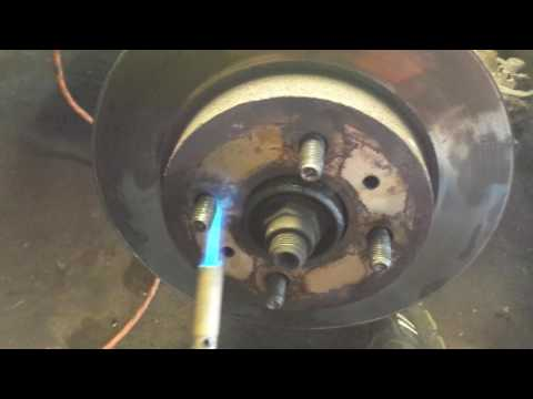 Removing a rusted brake rotor