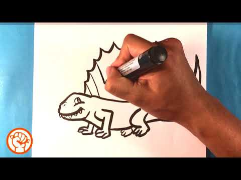 how to draw dinosaur dimetrodon jurassic park world easy pictures to draw artists art cool art step