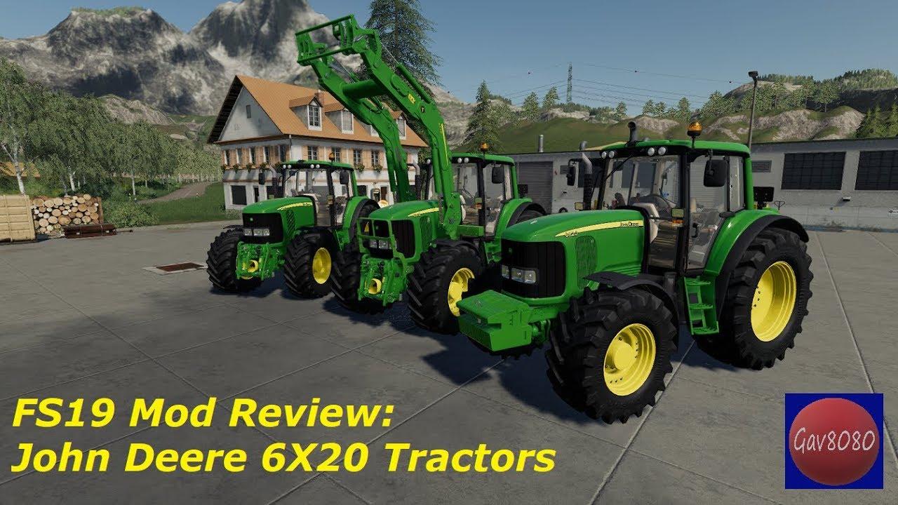 FS19 Mod Review: John Deere 6X20 Tractors