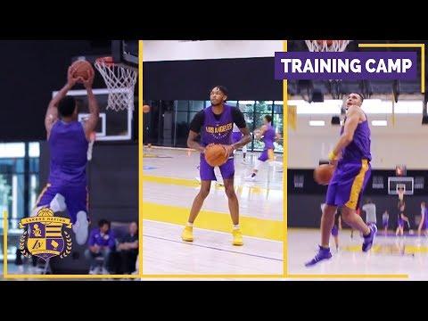 Lakers Training Camp (Practice Footage): Lonzo Ball, Larry Nance Jr., Brandon Ingram