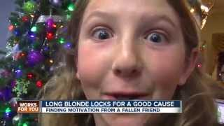 10-year-old gives up long blonde hair for Cancer