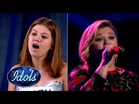American Idol Kelly Clarkson Sings At Last | First Audition & Live Performance American Idol
