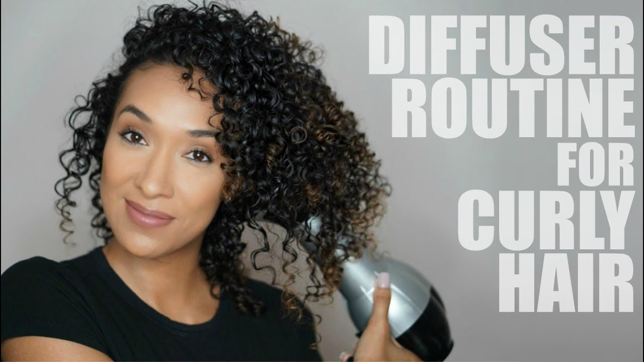 How I Dry My Naturally Curly Hair Using A Diffuser Updated