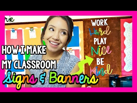 How I Make My Classroom Signs & Bulletin Board Letters! | Classroom DIY