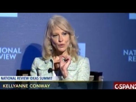 """Kellyanne Conway """"Running As A Conservative There"""