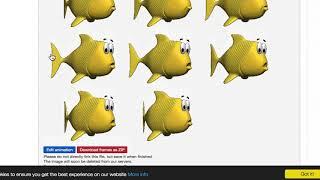 Simple animation with Processing: fish in aquarium