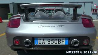porsche carrera gt exhaust note starts and revs