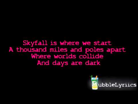 Adele - Skyfall (007 Theme Song) [Official Lyrics Video | HD/HQ]