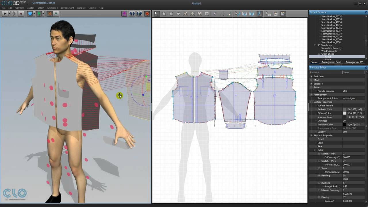 41 3d clothing making man 39 s shirt with dxf 1 sewing and for Virtual suit builder