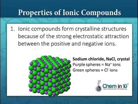 properties of ionic compounds metals and non metals class 10