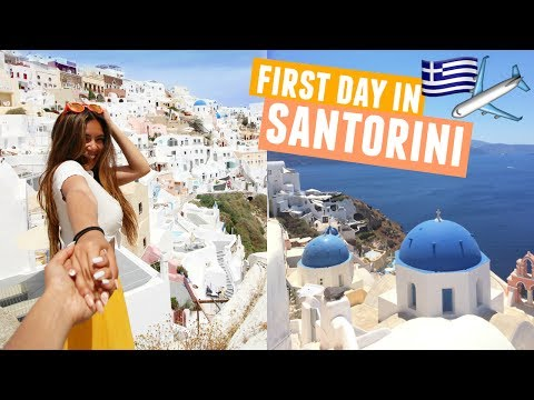 FIRST DAY IN SANTORINI | Greece Traveling Day 6!