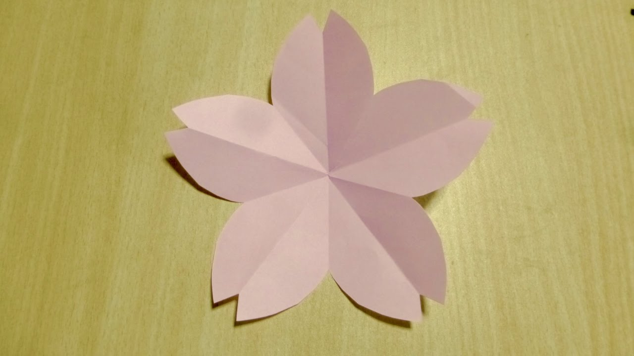 DIY craft】 How to make Cherry blossoms. Origami. The art of folding ...