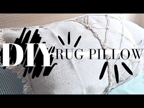 RUG PILLOW DIY IKEA HACK! (Pinterest/macrame style)