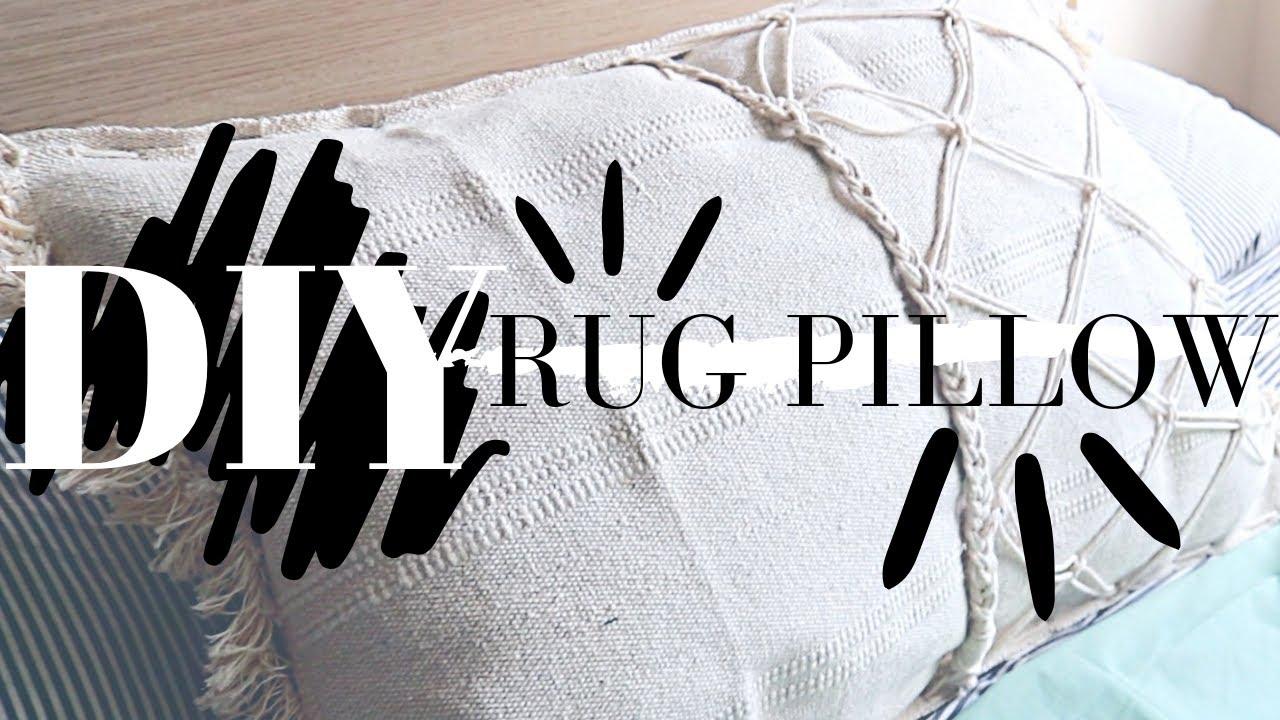 RUG PILLOW DIY IKEA HACK! (Pinterest