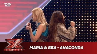 Maria & Bea synger 'Anaconda' - Nicki Minaj (5 Chair Challenge) | X Factor 2019 | TV 2