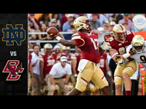 Notre Dame vs. Boston College Football Highlights (2017)