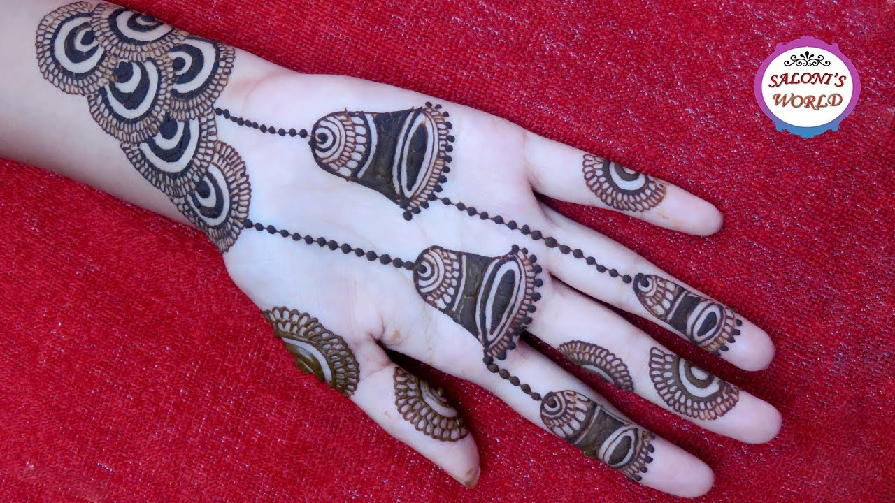 Latest Easy Girlish Arabic Henna Mehandi Designs For Hands 2017 By