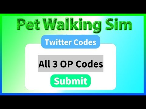 roblox pet walking simulator codes