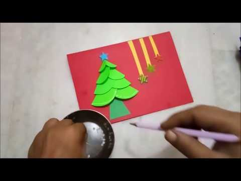 Easy Merry Christmas Card for kids 2018 | Card Making Tutorial