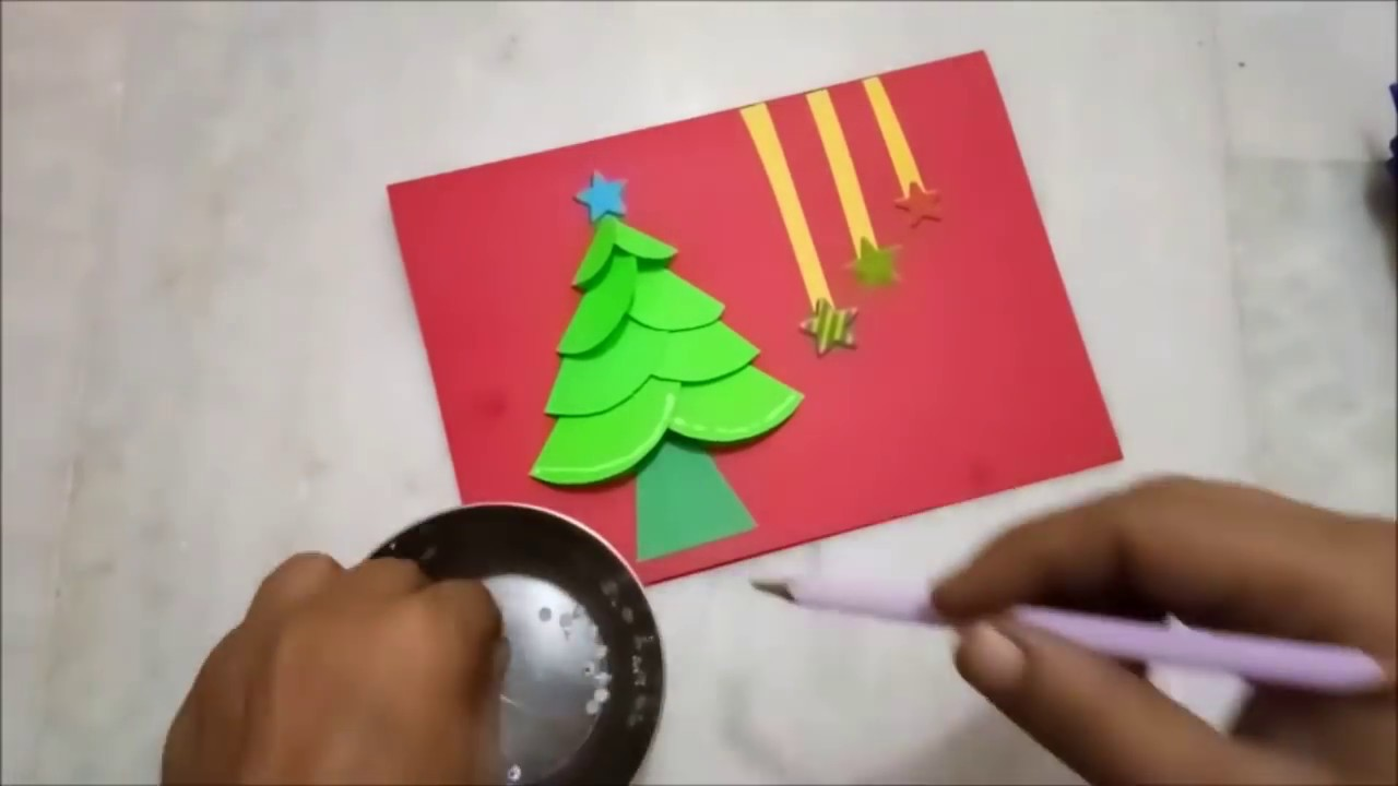 How to make Christmas Cards for kids 2017 | Easy Merry Christmas ...