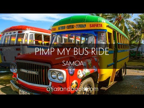 Pimp My Bus Ride in Samoa – imagine this for nearly three hours!