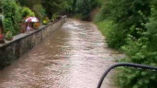 Chocolate river running through Croston, !