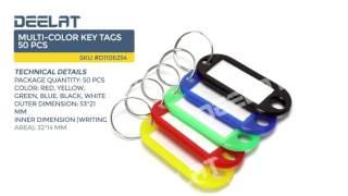Multi-Color Key Tags 50 pcs
