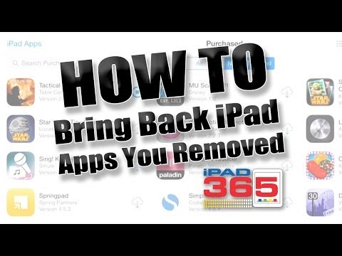 How To Reinstall IPad Apps You Removed