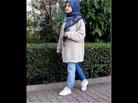 eca8a1c56 أجمل ازياء المحجبات شتاء 2017 ملابس شتوية للمحجبات - winter hijab ...