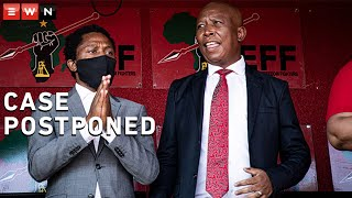 The assault case against EFF leader Julius Malema and MP Mbuyiseni Ndlozi has been postponed to 2021. The pair are accused of assaulting a police officer in 2018.