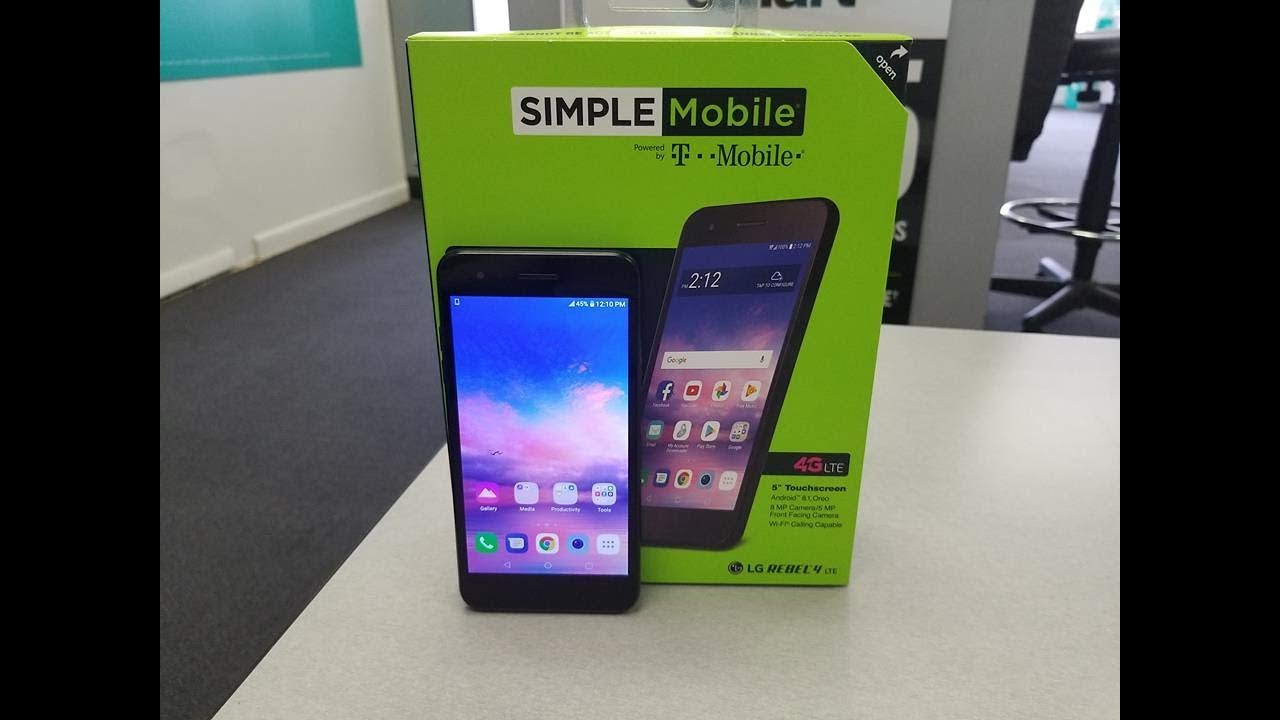 LG Reble 4 Unboxing and Mini Review For Simple Mobile/ Straight talk/Total  Wireless