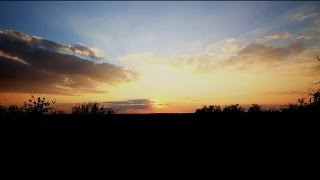 African Sunset Landscape Time Lapse - Royalty Free HD Stock Video Footage.