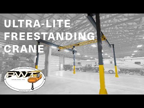Ultra-Lite Freestanding Bridge Crane By PWI