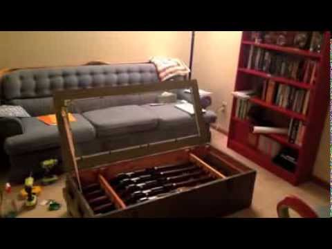 Mosin Nagant Crate Coffee Table Youtube