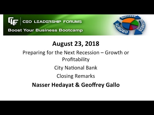 2018 08 23 CEO Leadership Closing Remarks