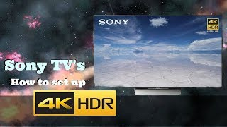 HOW TO SET UP 4K & HDR ON SONY TV'S | XBR43X800D