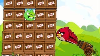 Angry Birds Cannon Collection 1 - EXPLODE THE 100 TNT TO BLAST ONE PIGGIES!