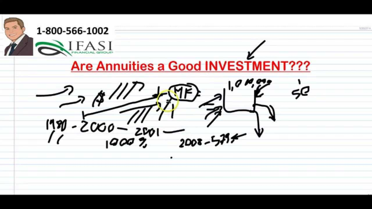 are annuities a good investment is an annuity a good investment
